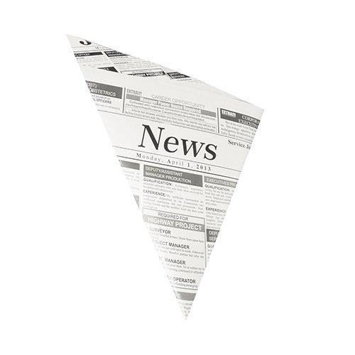 """1000 Bolsas para patatas fritas de papel pergamino artificial, con lazo autocierre 32,5 cm x 23 cm x 23 cm """"Zeitungsdruck"""" Contenido 250 g, antigrasa"""