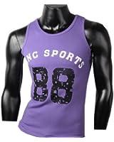 Herren Tanktop Tank top Muskelshirt Fitness T shirt Achselshirt Sports 88