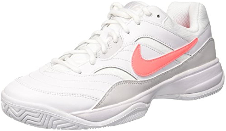 Nike WMNS Court Lite, Chaussures de Tennis Tennis Tennis Femme, Blanc (White/Lava Glow/Vast Grey 113), 42 EUB0717484KGParent | Mende  0e2832