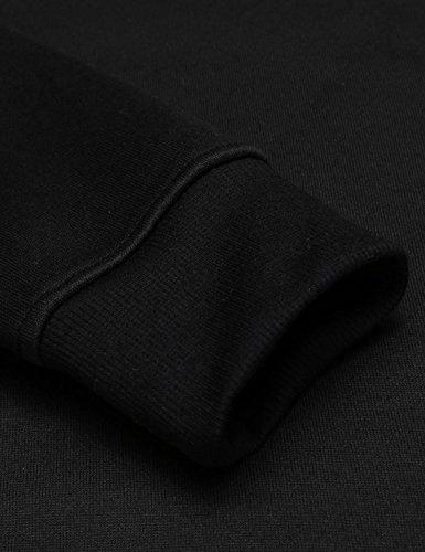 Soteer Sweatshirt Herren Pullover Langarmshirt Pulli Sweats Motiv Mode Fashion Tops mit Rundhalsausschnitt Schwarz