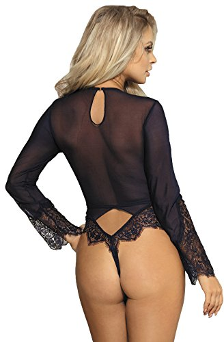 MarysGift Body sexy trasparente da donna,taglia: da 36 a 50 I804003