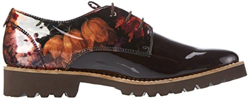 Piazza 850325, Derby femme Marron - Braun (Dkbrown)