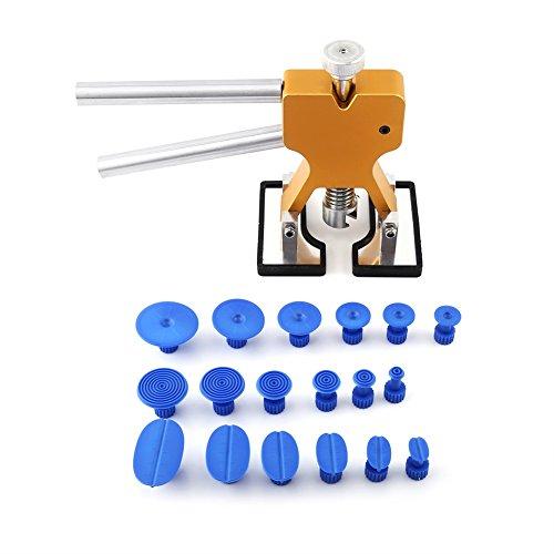 BigBig Style Heberkleber-Abziehvorrichtung und 18 Laschen Hagelentfernung Paintless Dent Repair PDR Kit Tool
