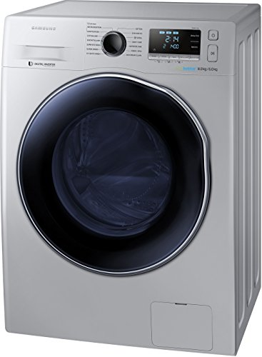 Samsung WD80J6410AS/TL Fully-automatic Front-loading Washing Machine (8 Kg, Silver)