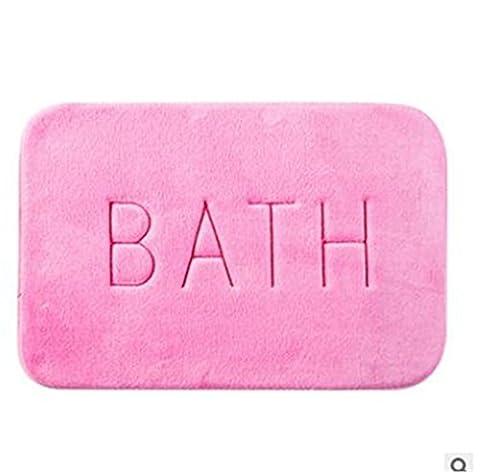 DDDBAY Salle de bain rectangulaire Chambre à coucher Mémoire Mémoire antidérapante Tapis Size40 * 60cm Cozy Hard-Wearing , Pink
