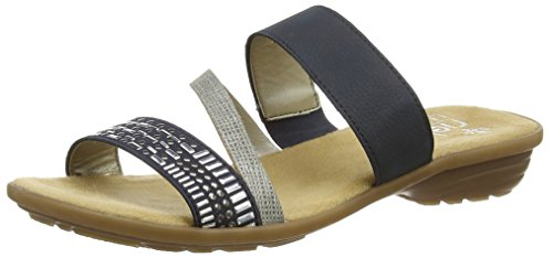 Rieker Ladies V3454 Mules Blue (royal / Shark / Pacifico / 14)