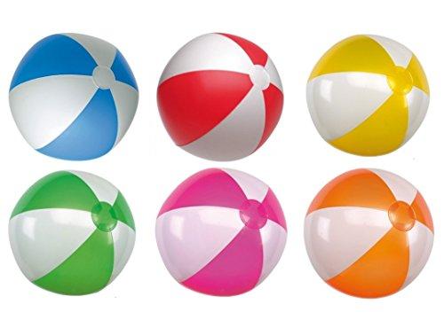 ndball aufblasbar ca. 28 cm Wasserspielzeug G1 (R509 Rot-Weiss) (Rote Und Weiße Beach-ball)