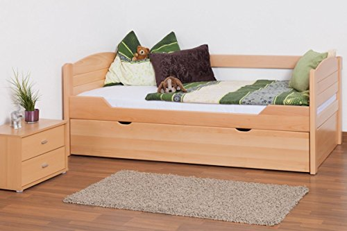 "Massivholzbett / Funktionsbett ""Easy Sleep"" Buche Vollholz massiv Natur"