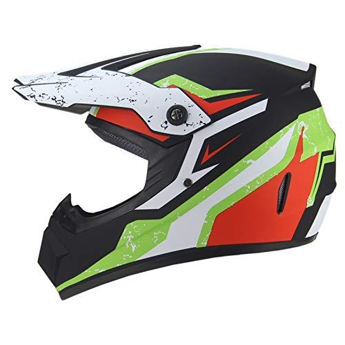 Exklusive Anpassung Persönlichkeit Männer Und Frauen Motorrad Cross-Country Helm Mountainbike Reiten Helm DH Downhill Vollgesicht Helm Matte Farbe Sicheres Fahren (Size : S)