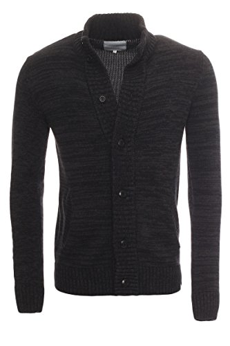 JACK & JONES KENNY KNIT CARDIGAN NOOS Black