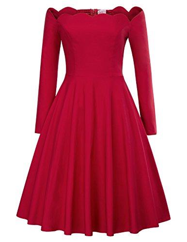 m petticoat kleider rot retro kleid 50s kleid M BP485-2 (Belle Im Roten Kleid)