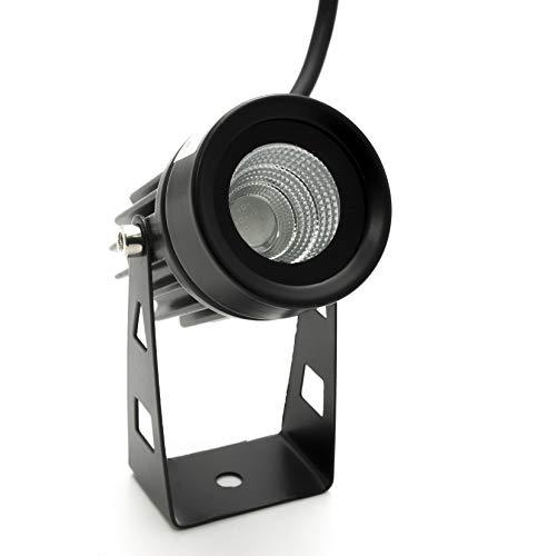 Foco proyector LED foco 3,5 W orientable luz jardín pared exterior IP65...
