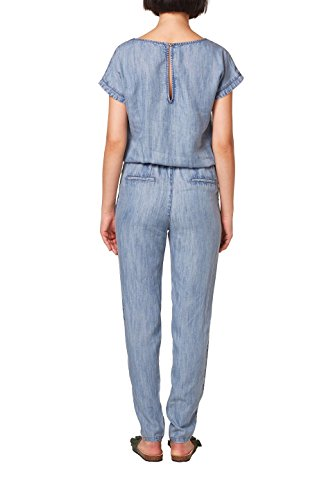 ESPRIT Damen Jumpsuit 058EE1L002, Blau (Blue Medium Wash 902), 40 - 2