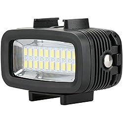 ZBDuDu Plongée Gopro éclairage de plongée vidéo de lumière de 130ft LED 2000 de 20M remplissent la Lampe 700LM pour GoPro Hero 6/5/4 SJCAM Yi EKEN H9