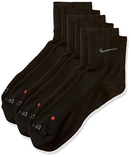 Nike SX4847, Pack de 3 Calcetines Unisex para Adultos, Negro, 42-46 EU