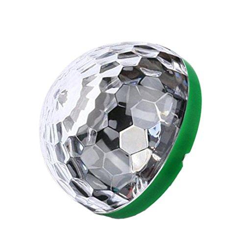 Mini USB Disco Licht Tragbare Home Party Stroboskop Led Disco glühbirne für karaoke xmas auszeichnungen (Grün, Für Typ C(1pc)) (Batteriebetriebenes Stroboskop Licht)