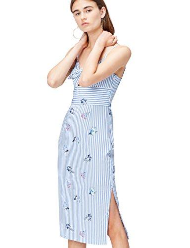 Find 13696 vestiti donna casual, blu (blue stripe floral), 42 (taglia produttore: small)