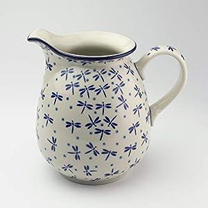 Polish Pottery 1 Litre Jug Dragonfly