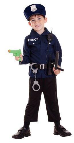 Polizeikostüm für Jungen - 3-5 (Kostüme Jungen Top Gun)