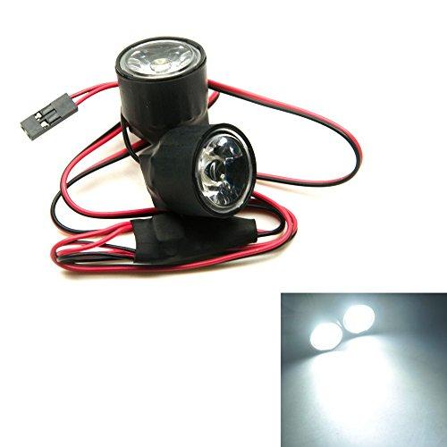 XUNJIAJIE 1 Stück Weiß 3W Head Light Scheinwerfer RC Autolicht for Alle 1/10 RC Car Crawler