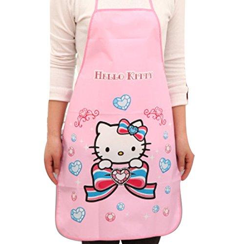 Cute Tablier de cuisine imprimé hello kitty pour femme
