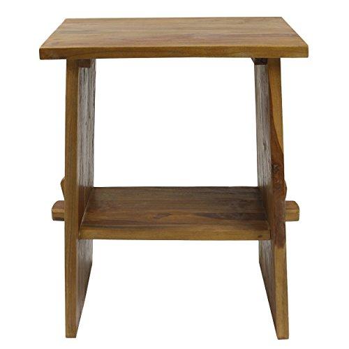 Waschtisch Waschbeckenunterschrank Tisch Badmöbel Badezimmermöbel Teakholz Hellbraun 60 cm Breite