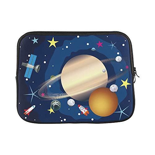 """JOCHUAN Design Benutzerdefinierte Big Planet Saturn Raum Sterne Shuttles Sleeve Weiche Laptop Tasche Tasche Haut Für MacBook Air 11\""""(2 Seiten)"""