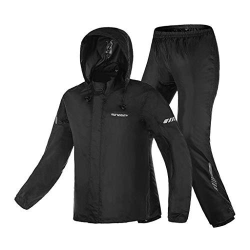 BJYG Regenanzug für Herren Regenbekleidung (Regenjacke und Regenhose Set) Erwachsene Kapuzen Outdoor Arbeit Motorrad Golf Angeln Wandern Jagd (Größe: S)