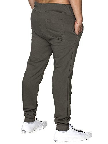 TAZZIO Herren Jogginghose Sweatpants Birds 16600 Khaki