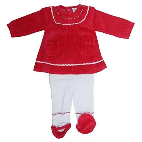Christmas Santa Outfit Set mit Stickerei–6Monate (Mrs Christmas Outfit)