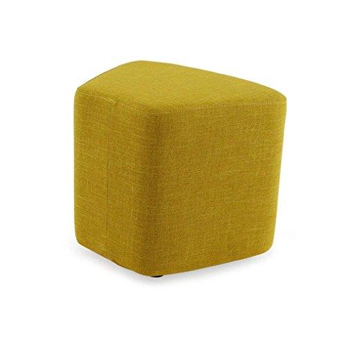 ZHANG Sofa Hocker Moderne Tuch Kunst Wohnzimmer Massivholz Haushalt Schuh Bank Nordeuropa Einfache Tee Tisch Hocker Niedrigen Hocker 40cm Hoch (Farbe : #6)