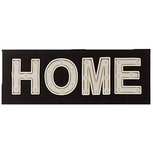 LED Leuchtschild Leinenbild Home auf Holzrahmen (Led Schilder, Bier)