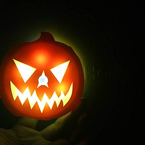 LJBOZ Halloween Induktionskürbislicht des menschlichen Körpers Halloweens LED kreativer Magnet, der LED-Nachtlicht auflädt Kürbis Lichter (Color : Battery Magnet) -