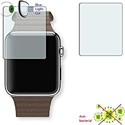 2 x DISAGU ClearScreen screen protection film for Apple Watch 42 mm (2016) antibacterial, BlueLight filter protective film (intentionally smaller than the display due to its curved surface)