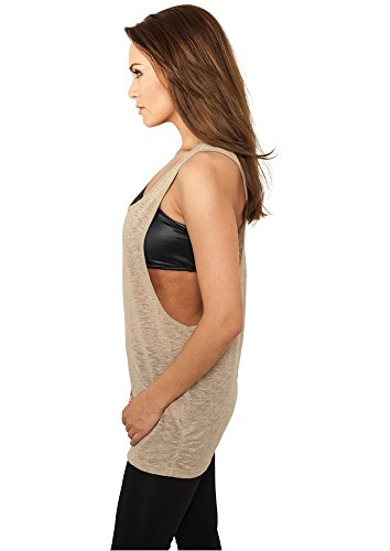 Ladies Lurex Loose Tank Goldfarben