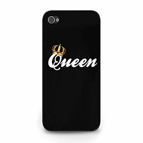 Boyfriend Girlfriend Lovers Best Friends Fashion Unique King Queen Matching Couple Phone Case Cover for Iphone 5/5s Color118d