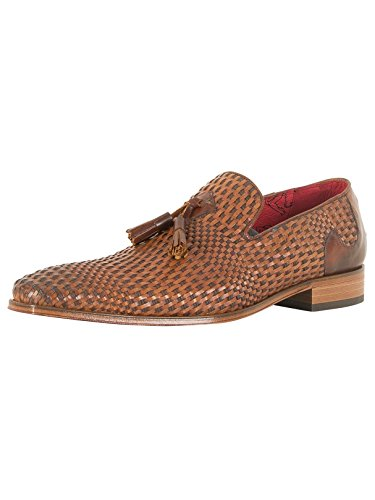 Jeffery West Homme Scarface Tan Chaussures en cuir, Marron Marron