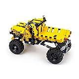 Giplar Steckbausatz Konstruktion DIY - Spielzeugauto aus Bausteinen mit Rückziehfunktion Pull Back Car