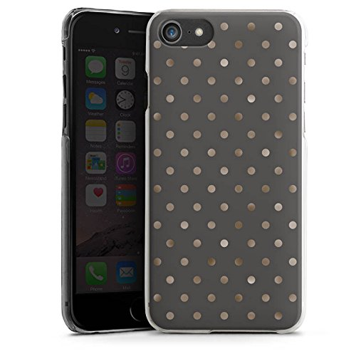 Apple iPhone 7 Plus Hülle Case Handyhülle Punkte Muster Silber Punkte Hard Case transparent