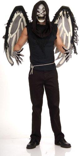 stüm Skelett Totenkopf Engel Flügel Maske ()