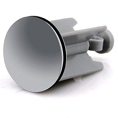 Waschbeckenstöpsel Abfluss-Stöpsel mit Haarfänger-Kette, Für handelsüblichen Abfluss, Silber 40mm, Hochwertige Qualität