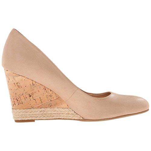 MERUMOTE Damen Y-062 Comfort Keilabsatz High Heels Ohne Verschluss Kleid Pumpen-Schuhe Nackt-Matt