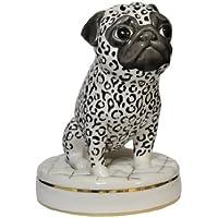 Mops Paar Porzellan Hund Figur Skulptur Porzellanfigur Dekoration antik Stil
