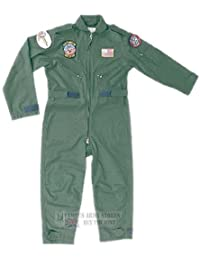 Boys Kids US Air Force Aviator Flight Suit Fly Army Military Milcom Boilersuit
