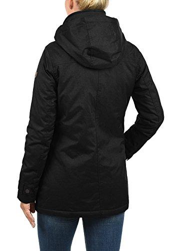 DESIRES Brooke Damen Winterjacke Dufflecoat Parka Mit Stehkragen Und Kapuze, Größe:S, Farbe:Black (9000) - 3