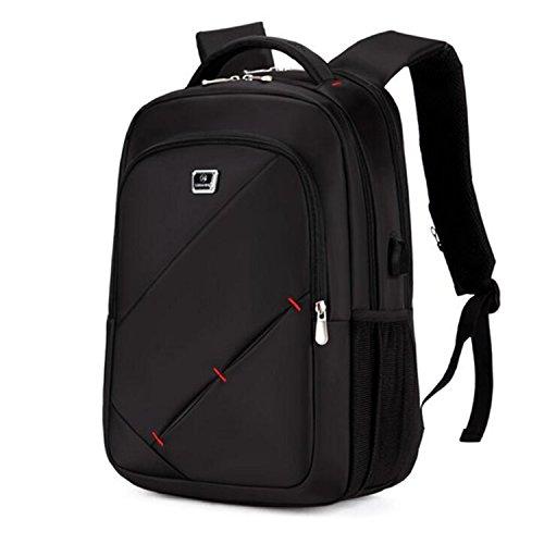 Shuaibo Laptoptasche bis 15.6 Zoll USB Lade Rucksack für Tablet PC Computertasche Notebooktasche gepolstert