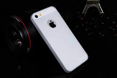mStick Candy Color Ultra Slim Soft Silicon Back Cover For Apple iPhone 5 / 5S / SE WHITE-TRANSPARENT  available at amazon for Rs.99