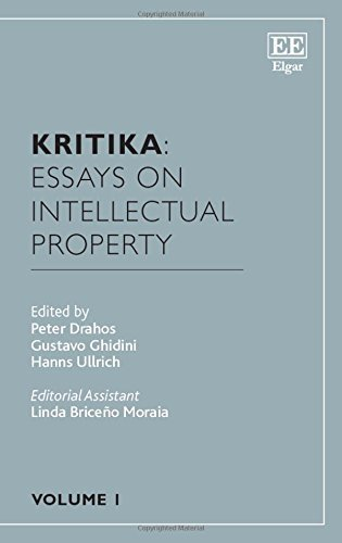 Kritika: Essays on Intellectual Property by Peter Drahos (2015-11-25)