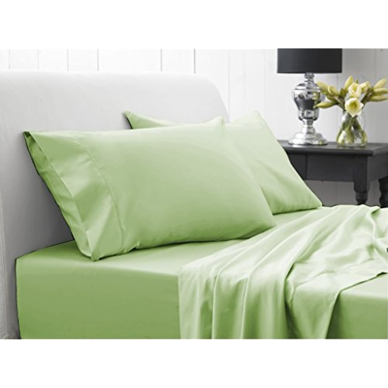 Dreamz simple 500 fils feuilles avec doudou feuilles fils 300 g/m²-Double-Blanc à rayures 100%  coton égyptien 85f5fe