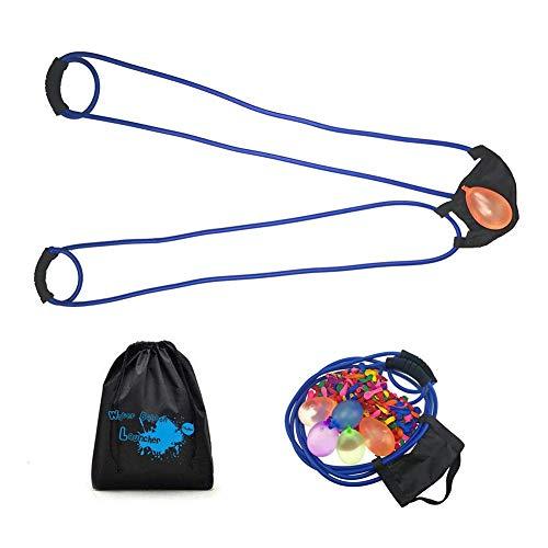 benignpoet Baum Wasserballon Launcher 500 Yard Spielzeug 3 Personen Slingshot 100 Wasserballons, Heavy Duty Wasserballon Kanone Slingshot Fight Pool Party Spielzeug für Kinder und Erwachsene